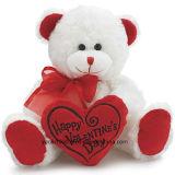 Orso del biglietto di S. Valentino su ordinazione con cuore rosso per il regalo