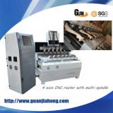 Multi-Spindle, Metal 및 Wood 4 Axis CNC Router Machine (DT1010)