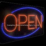 Muestra abierta de la cafetería LED de la muestra del LED que destella