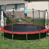 trampolino rosso rotondo di 15FT