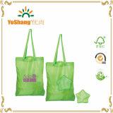 Sac à provisions en nylon se pliant bon marché imperméable à l'eau réutilisé de polyester d'Eco avec la poche d'étoile