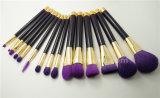 Состав метки частного назначения чистит 15 пурпурового косметического частей щеткой комплекта щетки