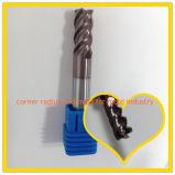 Moinho de extremidade contínuo da flauta do carboneto de tungstênio HRC60 4 para o molde