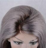 고품질 150% 조밀도 사람의 모발 레이스 정면 가발