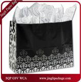 Bolsos blancos simples florales del regalo del papel de Kraft de la serenata del resorte de plata de los compradores con la maneta Twisted