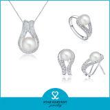 2014 de Nieuwste Halsband van de Parel van het Ontwerp Echte Zilveren (sh-J0145)