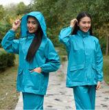 [يج-6086] بوليستر صفراء زرقاء [أونيسإكس] مطر يمطر دعوى لباس سيّدة ممطر