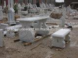 Insieme intagliato pietra della Tabella del giardino, insieme di marmo della Tabella