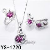Elegantie 925 Silver Jewellery Set met Pink CZ (ys-1719, 1720, 1723, 1728, 1737, 1738)