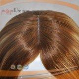 Las mejores pelucas judías superiores de seda humanas brasileñas del pelo 4*4 medias Handtied