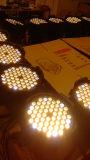 54 luz da PARIDADE da cor da mistura de X 3W para a luz do estágio do partido do disco da luz da música da lâmpada do partido do clube