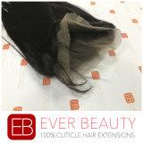 Человеческих волос Remy верхнего качества Frontal шнурка перуанских прямых полный