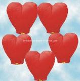En forma de corazón de la boda del globo de la vela Wish vuelo chino linternas de papel