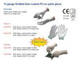 Связанный Нейлон-Углеродом PU белизны вкладыша Coated на перчатках ESD ладони перста