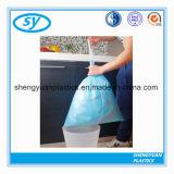 Sac d'ordures en plastique superpuissant de cordon de HDPE/HDPE