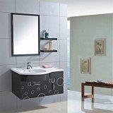 Cabina de cuarto de baño de acero montada en la pared simple con el estante