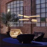 Bombilla moderna decoración Art Residence Claro rectange de cristal de la lámpara colgante LED de Hotel