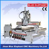 Máquina do router do CNC da base do vácuo do Woodworking, router do CNC da mudança da ferramenta de Matic de 1325 automóveis com três eixos
