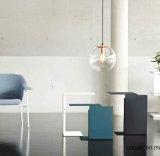 Uispair 100% 강철 현대 테이블 사무실 가정 살아있는 식당 침실 채마밭 가구