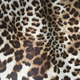 Cuir synthétique des graines de léopard pour le haut de chaussures de Ladys