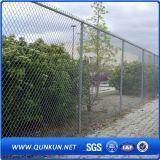 Горячая окунутая гальванизированная загородка звена цепи с ценой по прейскуранту завода-изготовителя