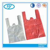 Sac à provisions de sac de T-shirt de bande de couleur de HDPE