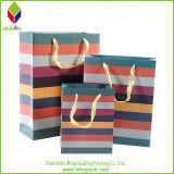 Saco de empacotamento do presente da compra do papel de impressão da cor
