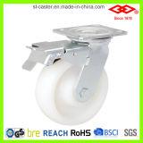 頑丈で白いプラスチック足車(P701-30D100X50S)
