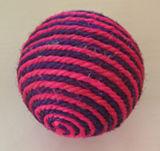 Pouca esfera do sisal da boneca, brinquedos do animal de estimação