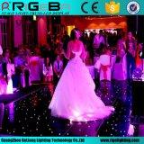 Estágio que ilumina o diodo emissor de luz remoto Dance Floor Starlit do DJ Discodecoration do casamento de Contro