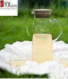 il Brew freddo 1000ml ha ghiacciato il creatore di tè di vetro/caldaia di vetro dell'acqua fredda/bottiglia fredda della brocca di acqua di vetro di Borosilicate con la protezione del silicone