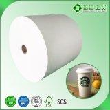 papel revestido del PE doble de las caras 15GSM+170GSM+15GSM para la taza fría de Drinkngs