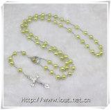 Branelli di plastica con il mestiere religioso del rosario della parte concentrare, rosario di plastica (IO-cr276)