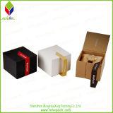 Plegamiento de papel cosmética caja de regalo con la cinta