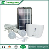 3W para la lámpara 2 del sistema de energía de la energía solar de la red para el hogar