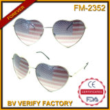 Occhiali da sole Heartshaped Charming del metallo della bandiera americana di vendita calda FM-2352
