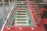 304/316 Bovenkant zet Traliewerk/de Balustrade van het Glas van het Roestvrij staal het Dek uit Aangemaakte op
