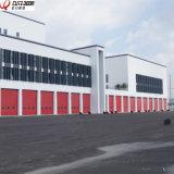 Дверь гаража пакгауза верхнего качества огромная промышленная секционная сползая