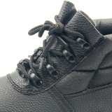 Couro genuíno nenhuns calçados compostos da segurança industrial do dedo do pé do metal