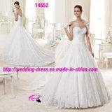 Erstaunliche trägerlose Ballkleid-Kleid-Hochzeit mit Gerichts-Serie