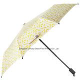 ガラス繊維フレームが付いている軽量の防風の折る女性の子供の傘