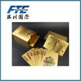 Por atacado dos cartões de jogo do ouro/costume