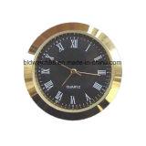 Reloj pequeño inserto de metal pequeño chapado en oro 27mm