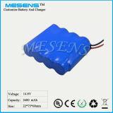 14.8V 2.6ah nachladbare Li-Ionbatterie für Radioapparat-Prüfvorrichtung