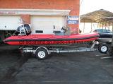 China Aqualand 16feet-33feet 4.8m-11m Barco inflável rígido de fibra de vidro / Barco motor com costela / Militar / Barco de resgate (rib580t-rib1050)