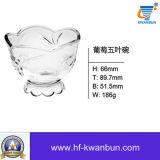 Verrerie Kb-Hn0208 de cuvette en verre de décoration de cuvette de crême glacée