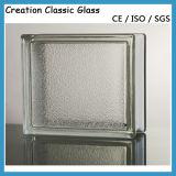 blocchetto di vetro nuvoloso libero di 190*190*80mm/mattone di vetro