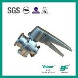 2inch vannes papillon de serrage manuelles de l'acier inoxydable SS304 tri