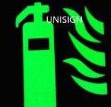 진한 녹색 천장 빛난 스티커에 있는 놀
