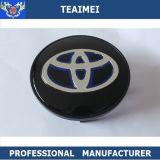 O logotipo Toyota do carro do costume 68mm roda o tampão de Hup